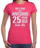 Awesome year jaar cadeau roze dames t-shirt 10200324