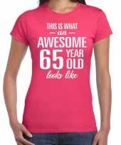 Awesome year jaar cadeau roze dames t-shirt 10200362
