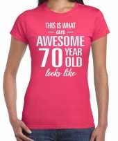 Awesome year jaar cadeau roze dames t-shirt 10200372