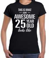 Awesome year jaar cadeau zwart dames t-shirt 10192266