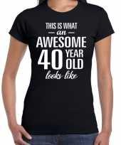 Awesome year jaar cadeau zwart dames t-shirt 10192273