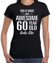 Awesome year jaar cadeau zwart dames t-shirt 10193472