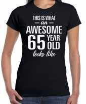 Awesome year jaar cadeau zwart dames t-shirt 10193474
