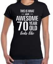Awesome year jaar cadeau zwart dames t-shirt 10193475