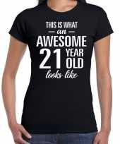 Awesome year jaar cadeau zwart dames t-shirt 10193476