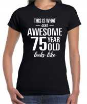 Awesome year jaar cadeau zwart dames t-shirt 10206132
