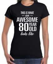 Awesome year jaar cadeau zwart dames t-shirt 10206247