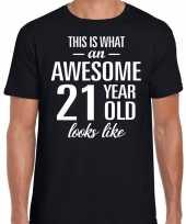 Awesome year jaar cadeau zwart heren t-shirt 10193520