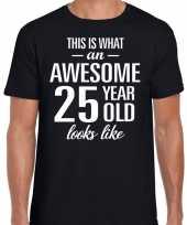 Awesome year jaar cadeau zwart heren t-shirt 10193521