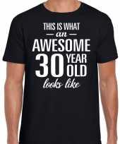 Awesome year jaar cadeau zwart heren t-shirt 10193522