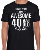 Awesome year jaar cadeau zwart heren t-shirt 10193523