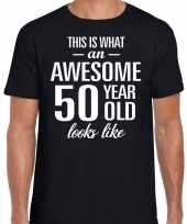 Awesome year jaar cadeau zwart heren t-shirt 10193524