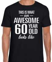 Awesome year jaar cadeau zwart heren t-shirt 10193525
