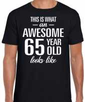Awesome year jaar cadeau zwart heren t-shirt 10193526