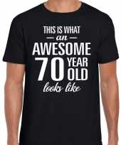 Awesome year jaar cadeau zwart heren t-shirt 10193527