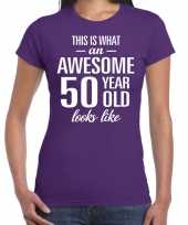 Awesome year sarah cadeau paars dames t-shirt