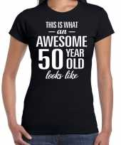 Awesome year sarah cadeau zwart dames t-shirt