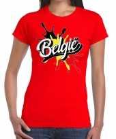 Belgie spetter rood dames t-shirt