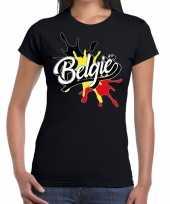 Belgie spetter zwart dames t-shirt