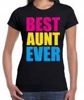 Best aunt ever beste tante ooit fun zwart dames t-shirt