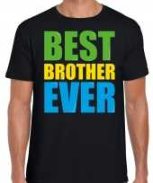 Best brother ever beste broer ooit fun zwart heren t-shirt