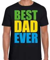 Best dad ever beste vader ooit fun zwart heren t shirt