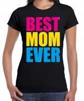 Best mom ever beste moeder ooit fun zwart dames t shirt