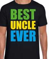 Best uncle ever beste oom ooit fun zwart heren t-shirt