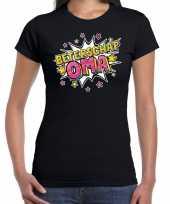 Beterschap oma cadeau zwart dames t-shirt