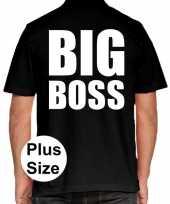 Big boss grote maten polo zwart heren t-shirt
