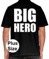 Big hero grote maten polo zwart heren t-shirt