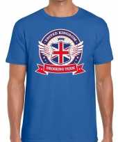 Blauw engeland drinking team heren t-shirt