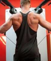 Bodybuilders heren zwart t-shirt