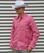 Cowboy blouse roze heren t-shirt