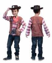 Cowboy d print kids t-shirt
