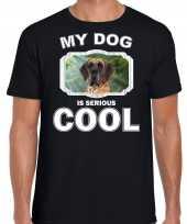 Deense dog honden my dog is serious cool zwart heren t shirt