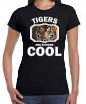 Dieren tijger zwart dames tigers are cool t-shirt