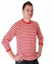 Dorus trui rood wit heren t-shirt