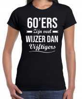 Ers zijn veel wijzer dan vijftigers verjaardags zwart dames t-shirt