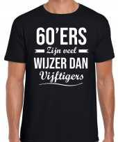 Ers zijn veel wijzer dan vijftigers verjaardags zwart heren t-shirt