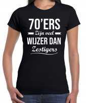 Ers zijn veel wijzer dan zestigers verjaardags zwart dames t-shirt
