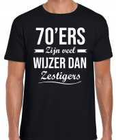 Ers zijn veel wijzer dan zestigers verjaardags zwart heren t-shirt