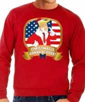 Foute kersttrui rood christmas is gonne be huge heren t-shirt