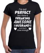 Freaking awesome husband echtgenoot cadeau zwart dames t-shirt