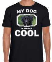 Friese stabij honden my dog is serious cool zwart heren t shirt