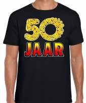 Funny emoticon jaar abraham zwart heren t-shirt