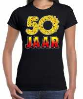 Funny emoticon jaar cadeau zwart dames t-shirt