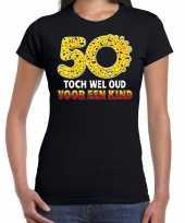 Funny emoticon toch wel oud een kind cadeau zwart t-shirt