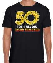 Funny emoticon toch wel oud een kind zwart heren t-shirt