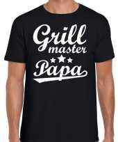 Grill master papa bbq barbecue cadeau zwart heren t-shirt